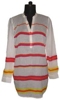 Ladies Stripe Printed Shirt
