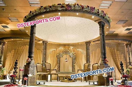 Indian Wedding Wooden Mandap Set