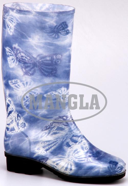 Mercury Blue Flower Boots