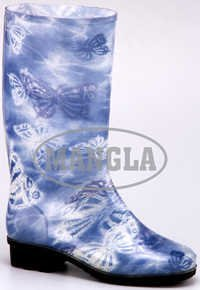 Mercury Blue Flower Boots