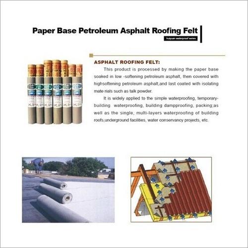 Paper Base Petroleum Asphalt Roofing Felt