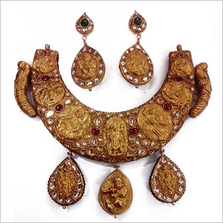 Antique Kundan Meena Necklace