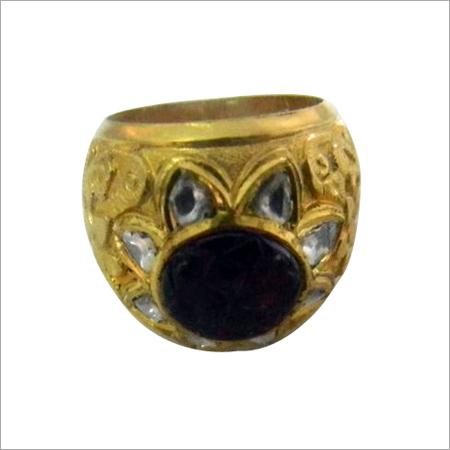 Antique Kundan Meena Rings