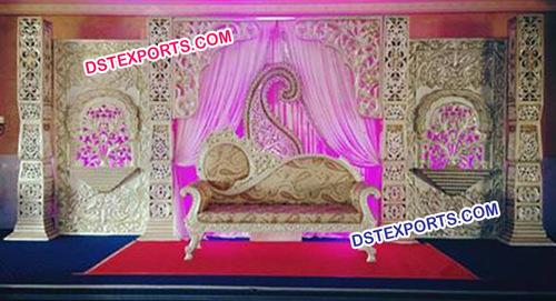 Hindu Wedding Decorated Stage Set