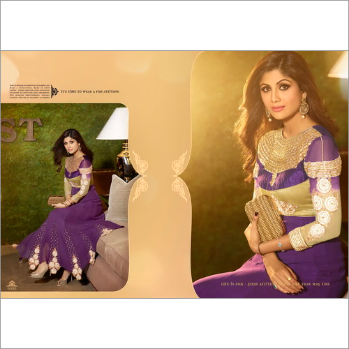 Karma Bollywood Shilpa Shetty Fashionable Purple C