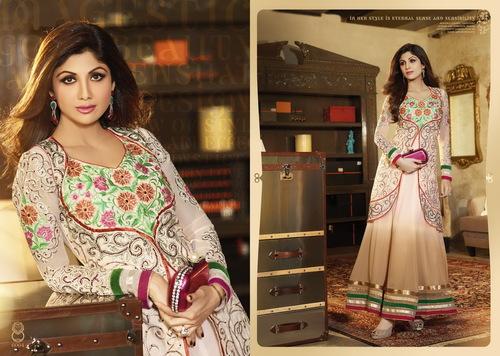 Karma Bollywood Shilpa Shetty Fancy Biege Color an