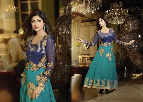 Karma Bollywood Shilpa Shetty Traditional Green Co