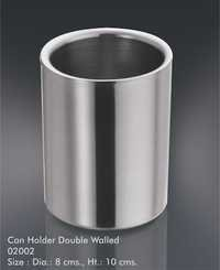 Can holder double wall
