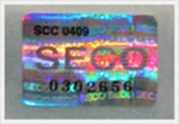 Over Print Hologram Labels