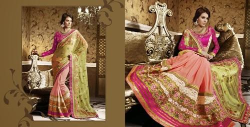 Light Pink Stylish Saree