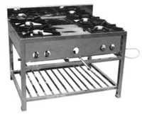 4 Burner Gas Cooking Range with Under Shelf