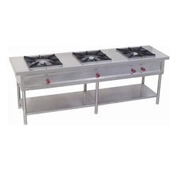 3 Burner Gas Cooking Range With UnderShelf