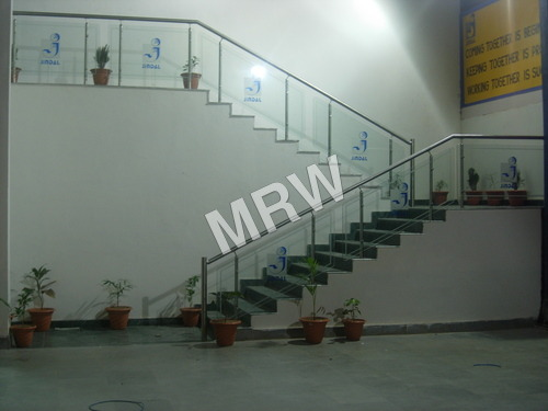 Brand Logo Glass Railing