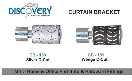 Silver & Wenge Cartain Bracket