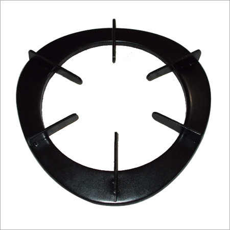 Black Power Coated Pan Support