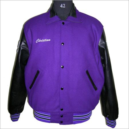 Retro Collar Varsity Jacket