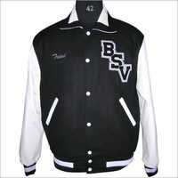 Black Retro Varsity Jacket