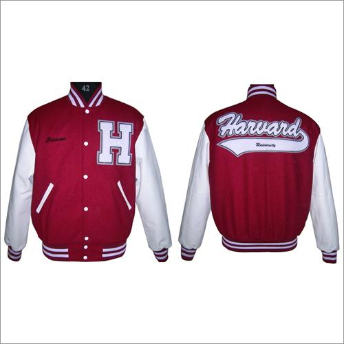 Scarlet Black Varsity Jackets