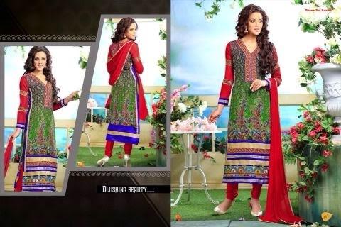 Printed & Embroidered Georgette Salwar Kameez