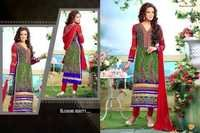 Printed & Embroidered Georgette Salwar Kameez