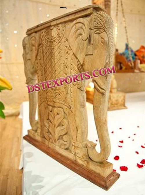 INDIAN WEDDING WOODEN ELEPHANT