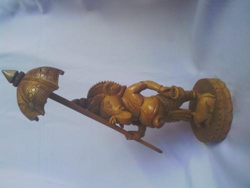Wooden Umbrella Ganesh