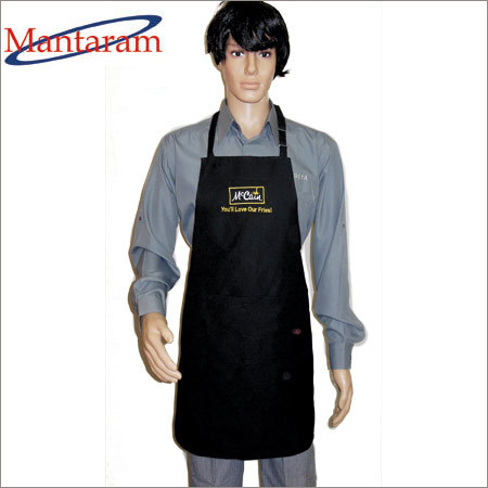 Mens Cotton Black Apron