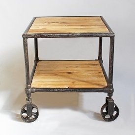 Industrial Cart Side Table