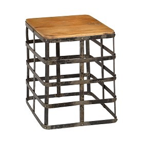 Iron Woven Side Table