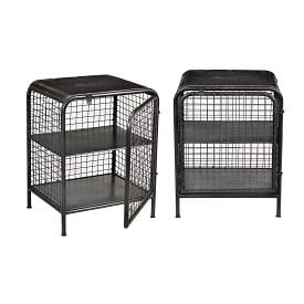 Industrial Cage End Table