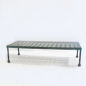 Vintage Blue Iron Coffee Table
