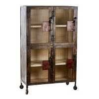 Industrial Iron Mesh Storage Locker