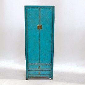 Turquoise Panted Tall Cabinet