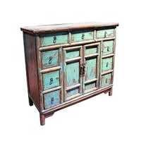 Nine Drawers Gansu Painted Cabinet