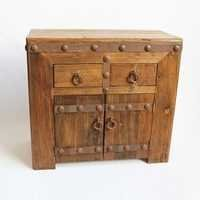 Reclaimed Wood and Iron Side Cabinet