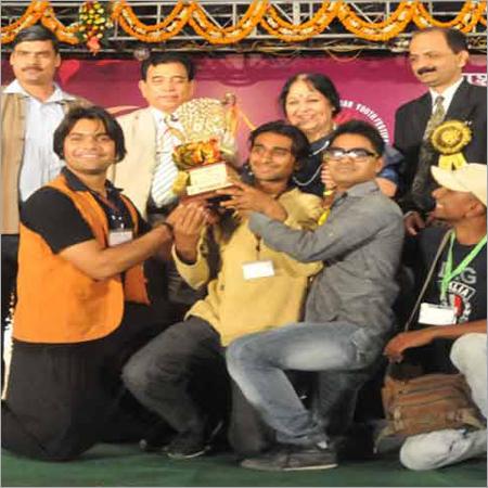 Brass Football Trophy