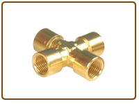 Brass Fourway Joint