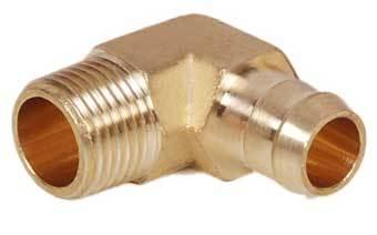 Brass Single Barb Male Elbow