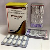 Paracetamol with Diclofenac Tablets(ARTHRONAX)
