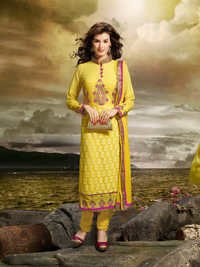 Yellow Fancy Designer Suit