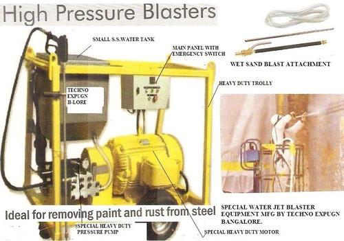 HEAVY DUTY HIGH PRESSURE WATER JET BLASTER MACHINE