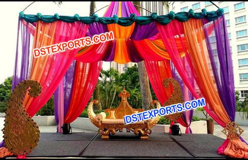 Open Mehandi Wedding Stage Decoration
