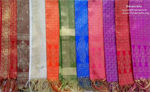 Royal Jari Silk Scarves