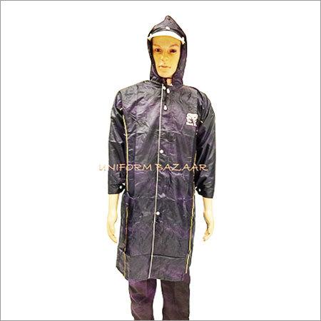 Rain coat in Navy Blue Colour Upto Knee Length