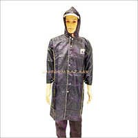 Rain coat in Navy Blue Colour Upto Knee Length