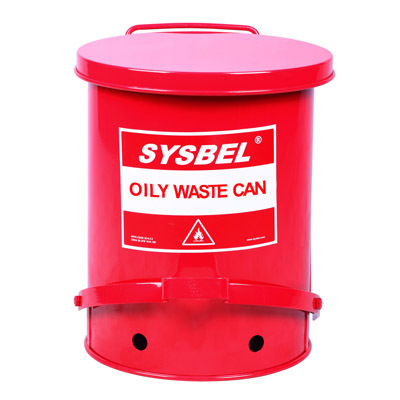 Safety Oily waste can