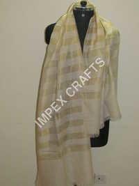 Pashmina Zari Stripe Handmade Stole