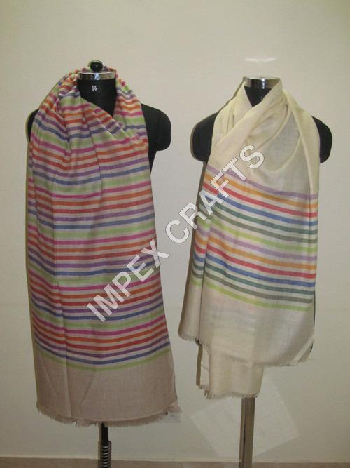 Pashmina With Multicolor Stripe
