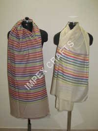 Pashmina With Multicolor Stripe