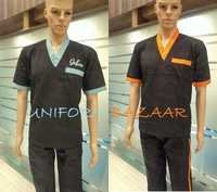 V-Collar Assistant Chef Uniforms
